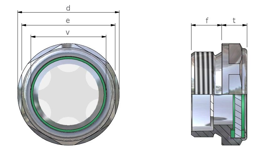TLAX/F INOX Indicatore di livello a vista con vetro ...